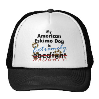 Extremely Naughty American Eskimo Dog Trucker Hat