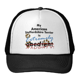 Extremely Naughty American Staffordshire Terrier Trucker Hat