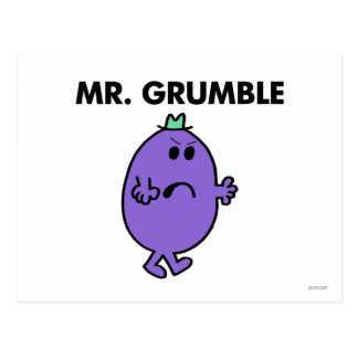 Extremely Unhappy Mr. Grumble Postcard