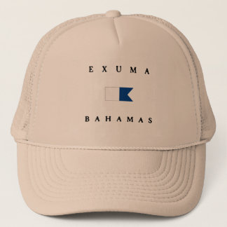 Exuma Bahamas Alpha Dive Flag Trucker Hat