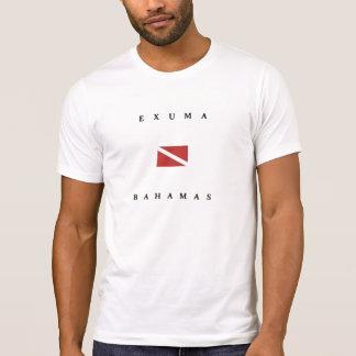 Exuma Bahamas Scuba Dive Flag T-Shirt