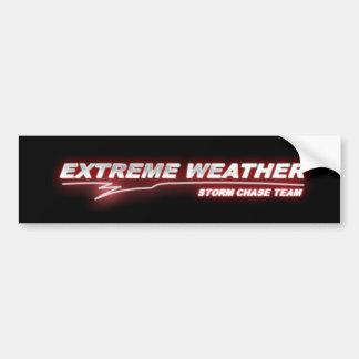 EXWX red glow bumper sticker