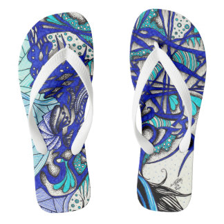 Eye Among Vines Flip Flops