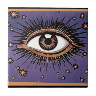 Eye and Stars Tile