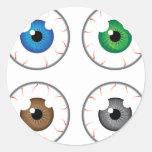 Eye ball blue green brown grey round sticker