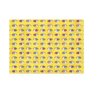 Eye Balls on Halftone Background Canvas Print