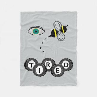 Eye Bee Tired Fleece Blanket