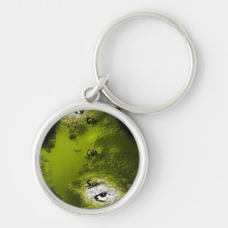 Eye Can See Silver-Colored Round Keychain