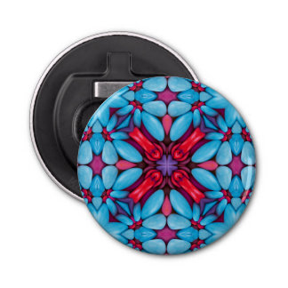 Eye Candy Kaleidoscope   Magnetic Bottle Openers