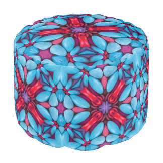 Eye Candy Kaleidoscope Round Pouf