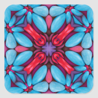 Eye Candy Kaleidoscope  Stickers, 7 shapes Square Sticker