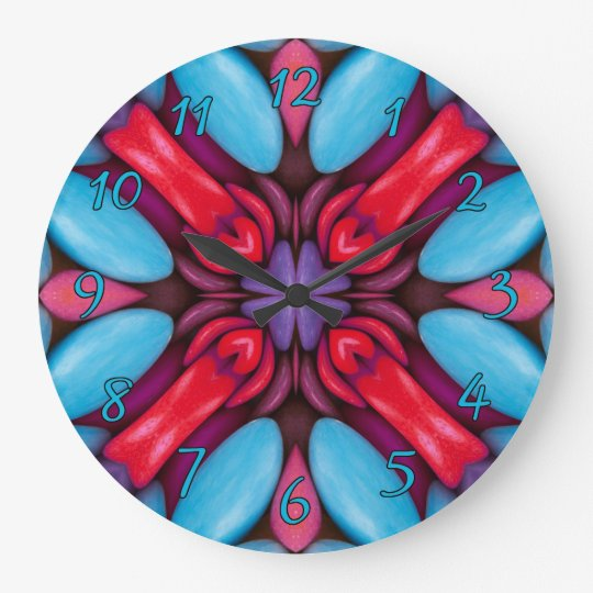 Eye Candy Pattern  Clock, square or round Large Clock