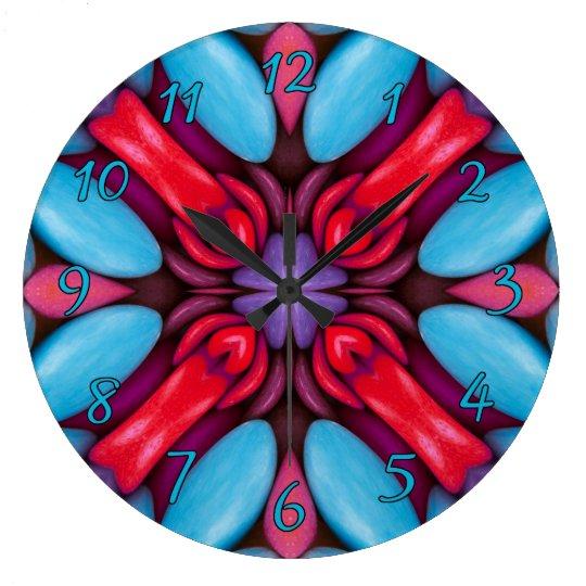 Eye Candy Pattern  Clock, square or round Wallclock
