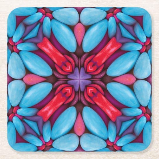 Eye Candy Pattern  Pulp board Coasters, 2 shapes Square Paper Coaster
