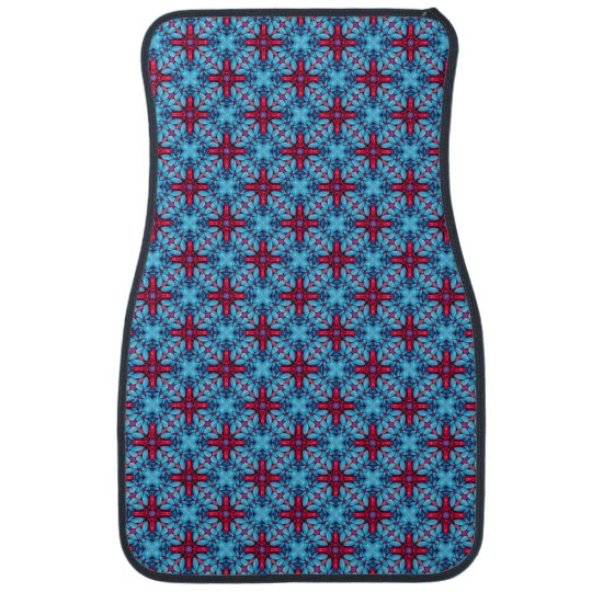 Eye Candy Pattern  Red Blue  Car Floor Mats Front