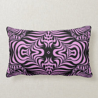 Eye Candy pink and black Lumbar Pillow