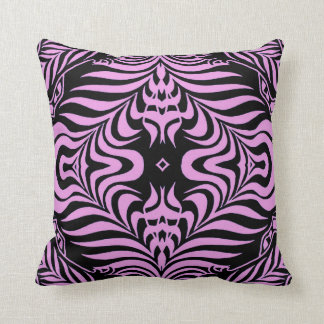 Eye Candy pink and black Throw Pillow