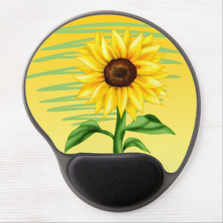 Eye Catching Bright Yellow Sunflower Gel Mouse Pad