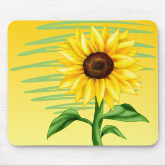 Eye Catching Bright Yellow Sunflower Mouse Pad