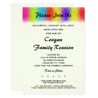 Eye Catching Reunion, Party or Event Invitation