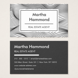 Eye-catching Strong Wavy Line Business Card