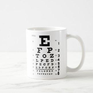 Eye Chart Basic White Mug