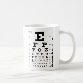 Eye Chart Coffee Mug