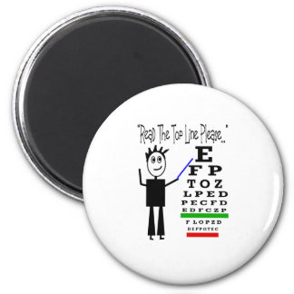Eye Chart Eye Doctor Design Gifts 2 Inch Round Magnet