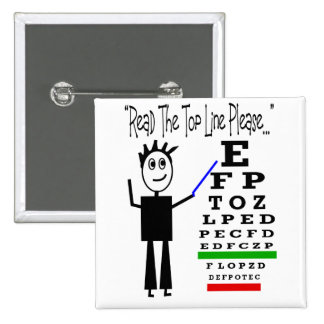Eye Chart Eye Doctor Design Gifts 2 Inch Square Button