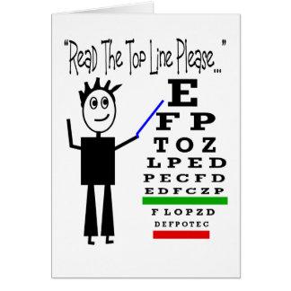 Eye Chart Eye Doctor Design Gifts Greeting Card