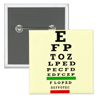 EYE CHART Gifts 2 Inch Square Button