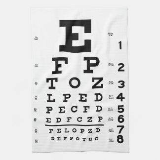 Eye Chart Kitchen Towel