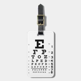Eye Chart Luggage Tag