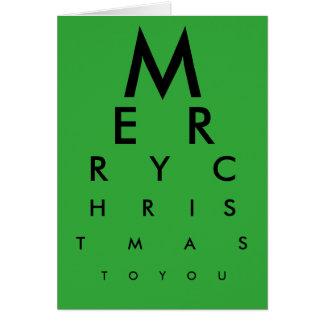 Eye Chart Merry Christmas Card (Green)