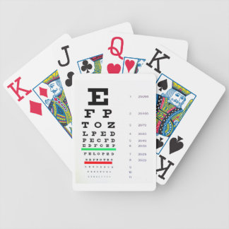 Eye Chart Playing Cards