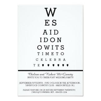 Eye Chart Post Wedding Reception Only Invitation