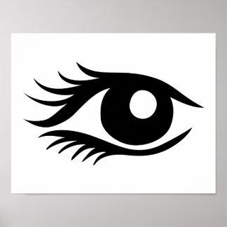 Eye cilia poster