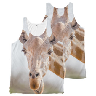 Eye contact with giraffe All-Over-Print tank top