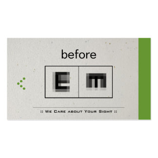 Eye Doctor Ophthalmology Ophthalmologist Optometry Business Cards