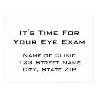 Eye Exam Appointment Reminder Eye Chart Style Postcard