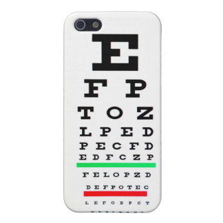 Eye Exam Chart Case For The iPhone 5