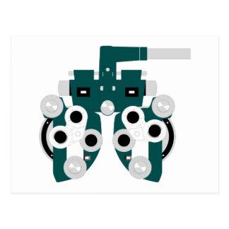 Eye Exam Equipment Postcard