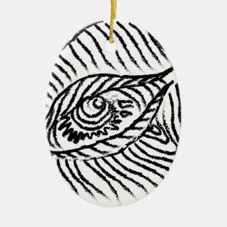 eye , eyelashes , mood, big brother ceramic oval ornament