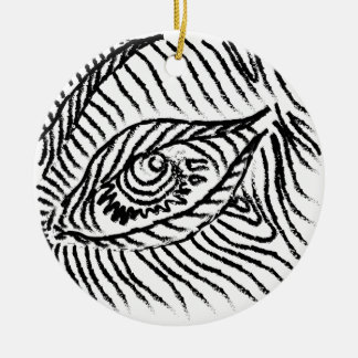 eye , eyelashes , mood, big brother round ceramic ornament