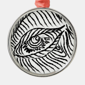 eye , eyelashes , mood, big brother Silver-Colored round ornament