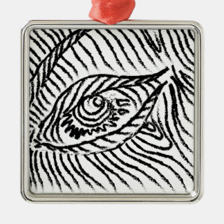 eye , eyelashes , mood, big brother Silver-Colored square ornament