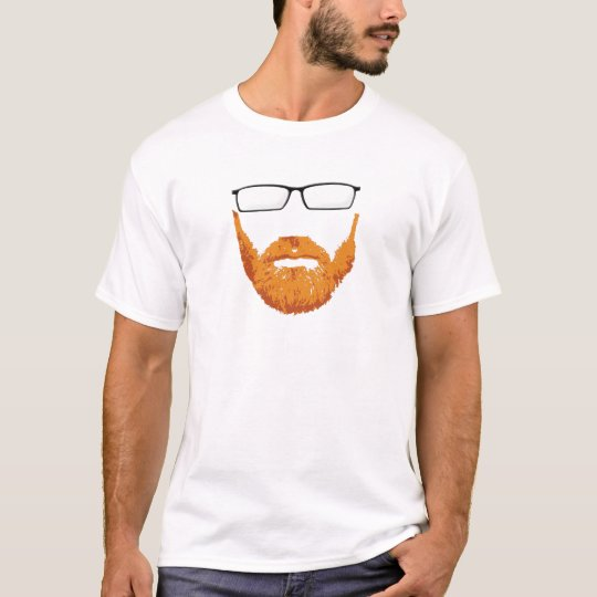 eye glasses and Red Head Beard T-Shirt