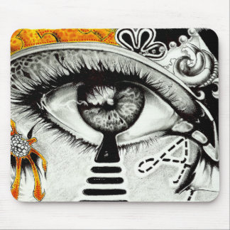 eye heart art mouse pad