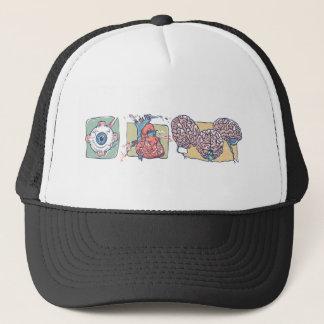 Eye Heart Brains Zombie Gear Trucker Hat