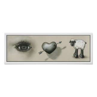 Eye Heart Ewe print